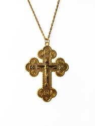 004250 Goldtone pectoral cross, chain included