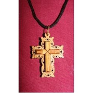Olive wood cross-on-cross