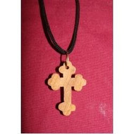Olive wood budded cross, solid