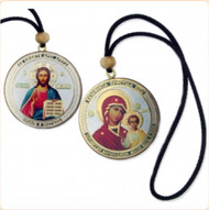 Virgin and Child & Christ Pendant, vehicle or ornament, version 1. Perfect for the car or home.