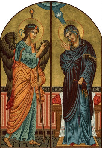 diptych annunciation large icons ancient faith store