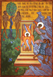 Expulsion of Adam & Eve from the Garden, large icon
