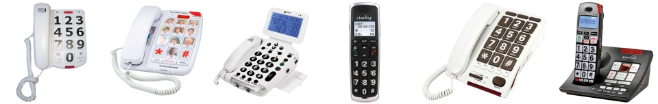 phones with big buttons and large numbers to phones with talking keypads, notifications and large displaysphones with big and large button to phones with talking keypads, talking anouncements and picture phones