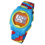 Global VibraLITE MINI Vibrating Watch with Multicolor Silicone Band