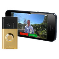 Ring Polished Brass Video Doorbell