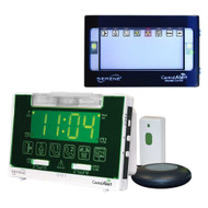 Serene Innovations CentralAlert CA-360 Alarm Clock with Remote Receiver and Doorbell Transmitter