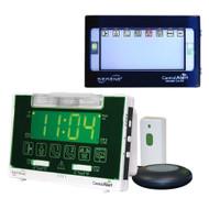 Serene Innovations CentralAlert CA-360 Alarm Clock with Remote Receiver and Doorbell Transmitter