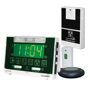 Serene Innovations CentralAlert CA-360 Alarm Clock with Audio Sensor and Doorbell Transmitter