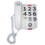 The Future Call FC-1507 model corded 40dB amplified telephone has big number buttons for easy visibility when dialing and is hearing aid compatible.