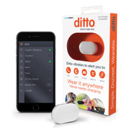 Ditto White Bluetooth Vibrating Cell Phone Signaler and Alarm Clip