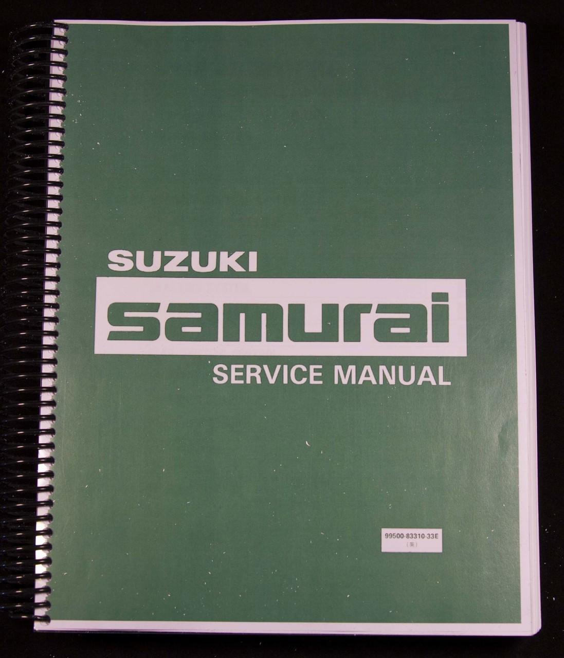 Suzuki Samurai Factory Service Manual - 1986-1988