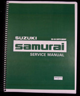 Suzuki Samurai  Factory Service Manual Supplemental - 1990-1995