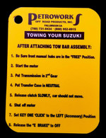 Flat Towing a Samurai Reference Card