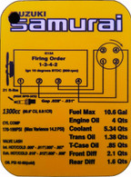 Samurai Engine Information Reference Card