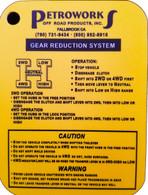 "Samurai ""H"" Pattern/4WD Operation Reference Card"