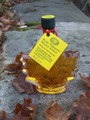 "3.4oz Pure Vermont Maple Syrup ""Leaf"" Shaped Bottle"