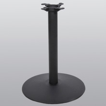 "Table Base 30"" Round, 28-3/4"" High, Black Matte finish, Steel Tube with Cast Iron Base and Spider Attachment - replacementtablelegs.com"
