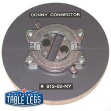 """Zink, Tabletop Connector, 3-1/2"""" diameter - replacementtablelegs.com"""