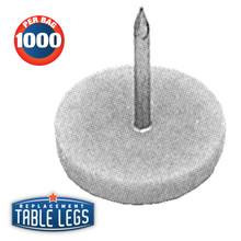 "White Nail Glide, 5/8"" diameter, 3/4"" length - replacementtablelegs.com"