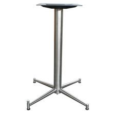 "4 LEG PRONG TABLE BASE, Ravenna Line, Stainless Steel, 28-1/4"" height, 17""x17"" base spread, 2-1/2"" diameter column - replacementtablelegs.com"