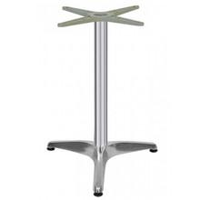 "3 LEG PRONG TABLE BASE, Polish Aluminum, 28-1/4"" height, 24"" base spread, 2-1/2""diameter column - replacementtablelegs.com"