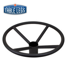 "Table Base Foot Ring for 3"" Columns, 19""x 8"", Black Matte"