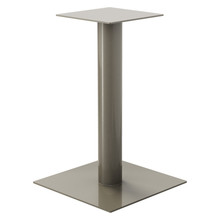 "Square Pedestal Base, 27-3/4"" Height, 23-3/4""x23-3/4"" Base, 4"" diameter Column, with welded mounting plate - Replacementtablelegs.com"