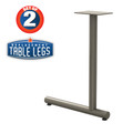"Tubular C-style Table Base, 27-3/4"" Height, 18"" Base Spread, 2"" diameter Columns with adjustable Levelers. - Replacementtablelegs.com"