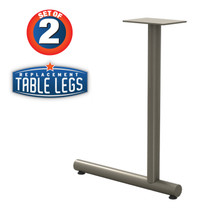 """Tubular C-style Table Base, 27-3/4"""" Height, 22"""" Base Spread, 2"""" diameter Columns with adjustable Levelers. - Replacementtablelegs.com"""