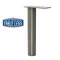 "Upper Cabinet Support Post, Surface Mounted, 10-3/4"" height,  2'' diameter. - Replacementtablelegs.com"