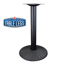 "Cast Iron Sun Table Base, 22"" Round Base Spread, 29"" Height, 3"" diameter column with Cast Iron Base and 9"" top plate"