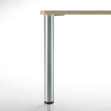 "Heidelberg Table Leg, 27-3/4"" length, 3"" diameter, 1-1/8""adjustable ABS plastic foot - replacementtablelegs.com"