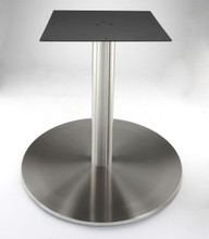 "Stainless steel 30"" round disk style pedestal table base, 40.75"" Counter Height (RFL750D) shown without table top"