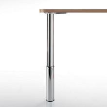 """Studio Telescoping Table Legs, 24"""" - 31"""", 2'' diameter leg 7'' adjustable foot - replacementtablelegs.com"""
