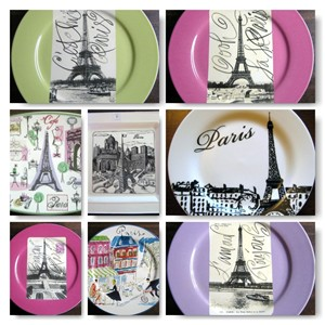 Eiffel Tower Decorative Plates www.decorativedishes.net