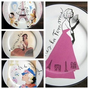 vintage Rosanna Paris Ladies Plates www.decorativedishes.net