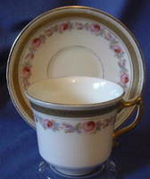 OLD!! English China ROSES Shabby Cup & Saucer