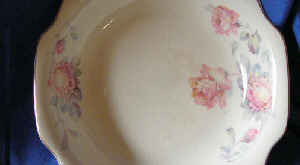 Vintage Pink Shabby Roses Cute Decal Rosemary Bowl