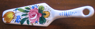 Vintage Decorative Server -  Handpainted in Italy Rose Tulip