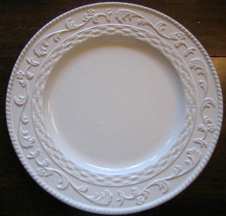 White textured plate