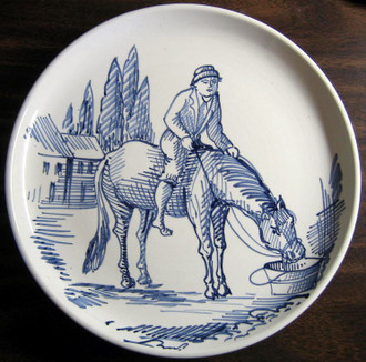 Boy on a horse Plate www.DecorativeDishes.net