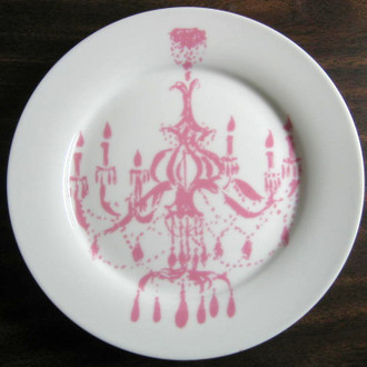 Pink Rosanna Chandelier Plate www.DecorativeDishes.net
