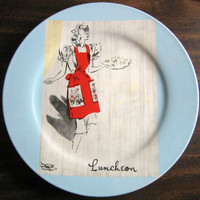 Retro Luncheon Apron Plate www.DecorativeDishes.net