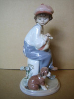 Lladro Boy with Puppy MY BEST FRIEND 5401 MIB