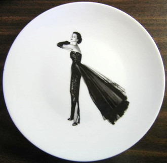 Black and white fashion plate www.DecorativeDishes.net