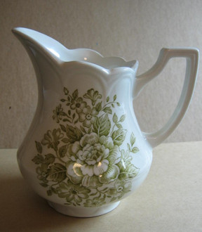 Sage green small pitcher.