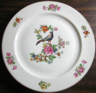Large European China Chinoiserie Plate www.DecorativeDishes.net