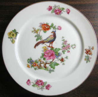 Medium chinoiserie bird plate www.DecorativeDishes.net