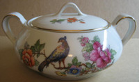 European Chinoiserie Small Lidded Bowl www.DecorativeDishes.net