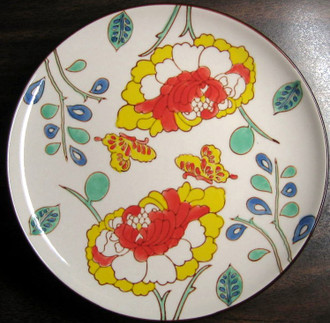 Mayabi Chinoiserie Lotus Butterfly Medium Plate www.DecorativeDishes.net